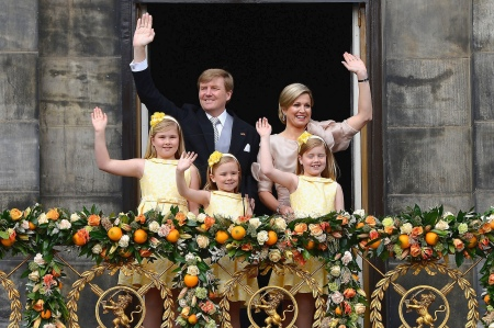The Dutch royal family in April 2013